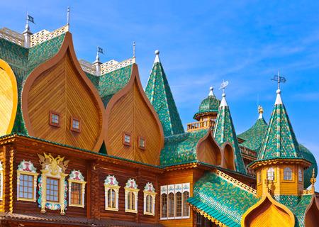 tsar: Wooden palace of Tsar Alexey Mikhailovich in park Kolomenskoe - Moscow Russia Editorial
