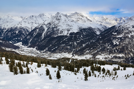 Mountains ski resort Solden Austria - nature and sport background photo
