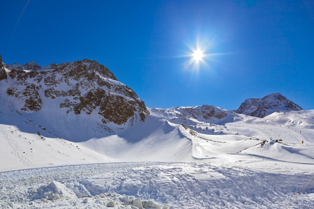 Mountains ski resort Innsbruck Austria - nature and sport background photo