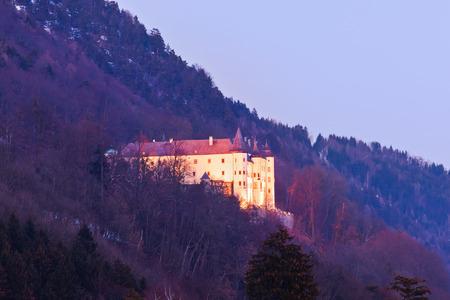 schloss: Tratzberg Castle in Tirol Austria - architecture and travel background