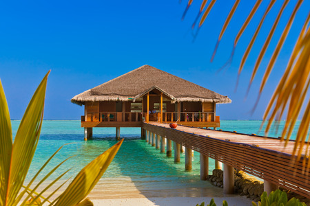 palapa: Spa saloon on Maldives island - nature travel background Editorial