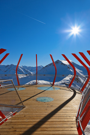 viewpoints: Viewpoint at mountains ski resort Bad Gastein Austria - nature and sport background Stock Photo