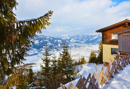 kaprun: Mountains ski resort Kaprun Austria - nature and sport background