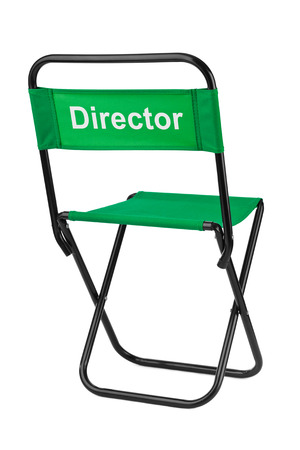 Directors chair isolated on white background photo