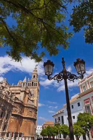 sevilla: Cathedral La Giralda at Sevilla Spain - architecture background Editorial