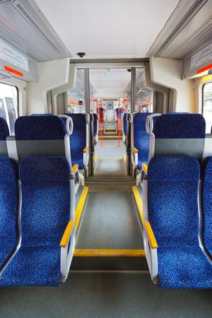 inside car: Interior of train - transportation travel