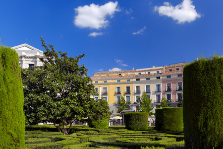 madrid  spain: Park near Royal Palace - Madrid Spain