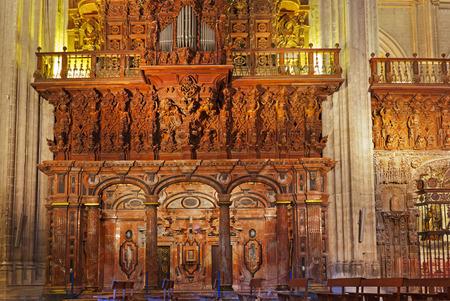 sevilla: Cathedral La Giralda at Sevilla Spain - architecture religion