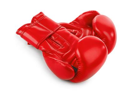 partnership power: Boxing gloves isolated on white background