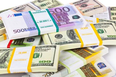 heap of dollar: Money stacks - business background