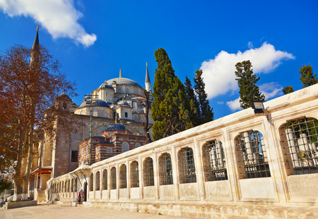fatih: Fatih mosque in Istanbul Turkey - architecture religion background Editorial