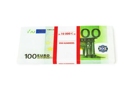 bribe: Money stack isolated on white background Stock Photo