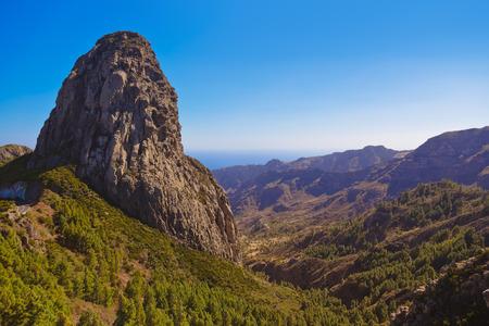 wild canary: Rocks in La Gomera island - Canary Spain Stock Photo