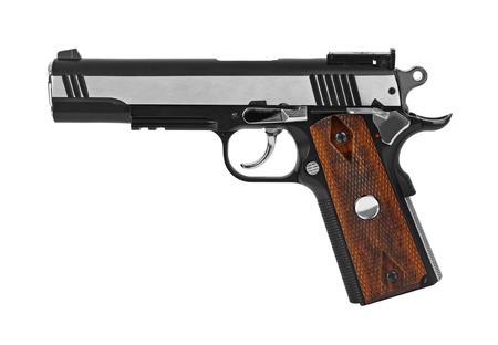 hand gun: Gun pistol isolated on white background
