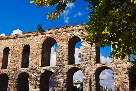 archaeology: Aqueduct at Istanbul Turkey - archaeology background
