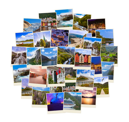 snapshot: Stack of Norway travel shots - nature and travel background (my photos)