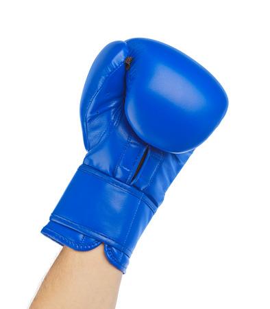 symbol sport: Boxhandschuh isoliert auf wei�em Hintergrund