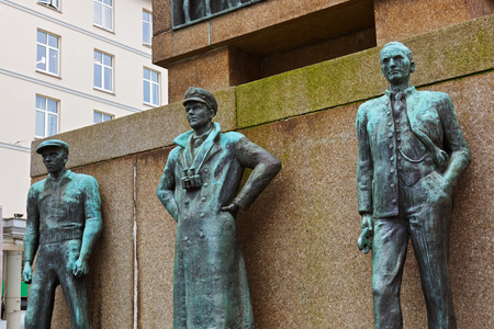 20th century: Monument in memory of sailors from viking times to the 20th century - Bergen Norway Stock Photo