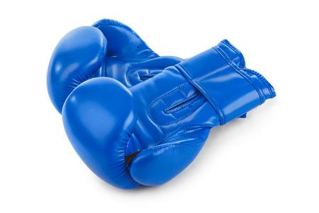 Boxing gloves isolated on white background photo