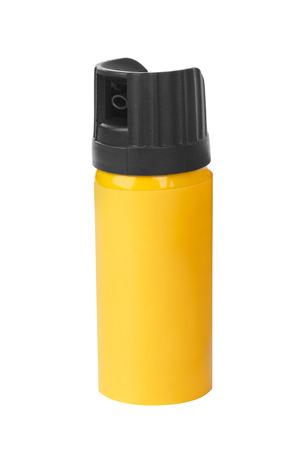 oleoresin: Bottle of pepper spray isolated on white background