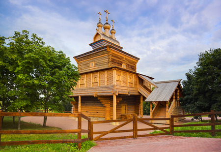 Wooden church in park Kolomenskoe - Moscow Russia photo