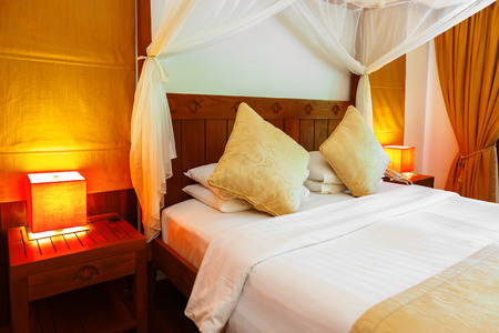 canopy: Hotel room at Maldives - vacation concept