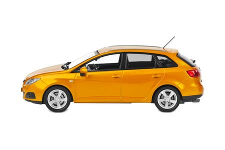 hatchback: Toy car isolated on white