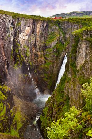 hardanger: Waterfall Voringfossen in Hardanger Norway - nature and travel
