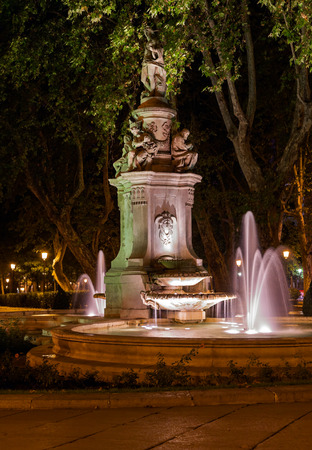 poseidon: Fountain in Madrid Spain - architecture background