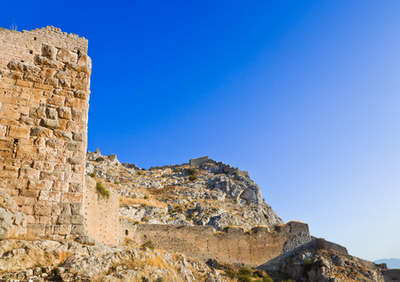 archaeology: Old fort in Corinth, Greece - archaeology background
