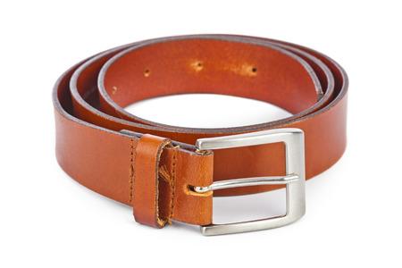 waistband: Leather belt isolated on white background