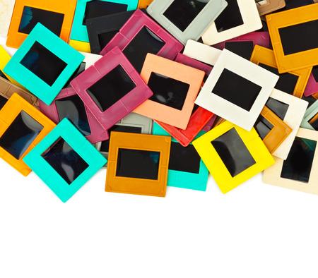 photo slide: Photo frames for slide isolated on white background