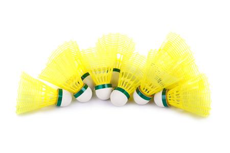 badminton: Badminton shuttlecocks isolated on white background