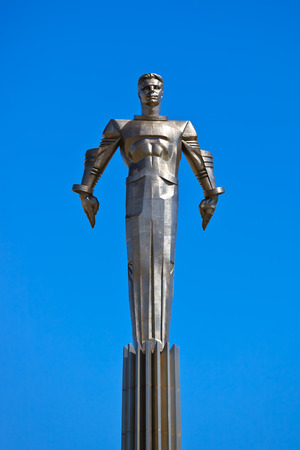 Yuri Gagarin monument on Gagarin Square - in Moscow Russia