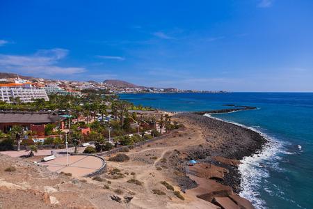 palapa: Beach Las Americas in Tenerife island - Canary Spain
