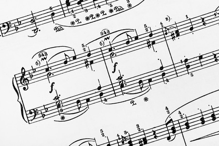 octaves: Music sheet - abstract art background Stock Photo