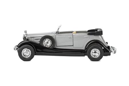 white car: Toy car isolated on white background