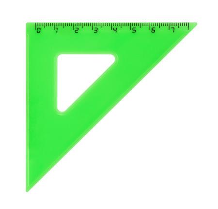 ruler: Triangle ruler isolated on white background