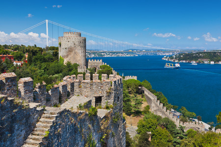 Rumeli Fortress at Istanbul Turkey - architecture background Editorial