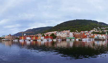 Bergen Norway panorama - architecture and travel background photo