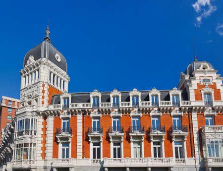 espana: Famous building at Plaza Espana (Torre de Madrid and Edificio Espana) - Madrid Spain