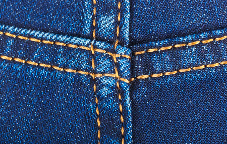 without legs: Seam on jeans - fashion background