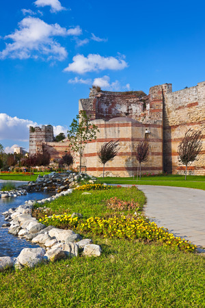 rumeli: Old fortress at Istanbul Turkey - architecture background