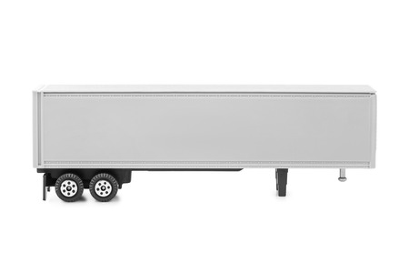 truckload: Toy car truck isolated on white background Stock Photo