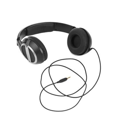 background skype: Headphones isolated on white background