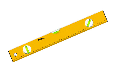 spirit: Construction level ruler isolated on white background Stock Photo