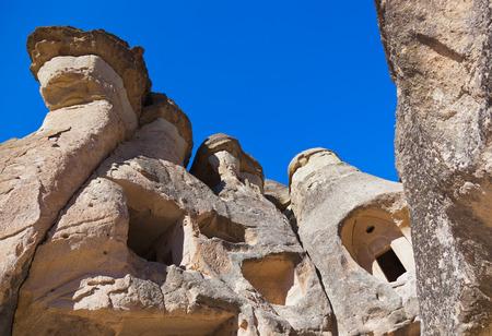 phallic: Fairy chimneys (rock formations) at Cappadocia Turkey - nature background