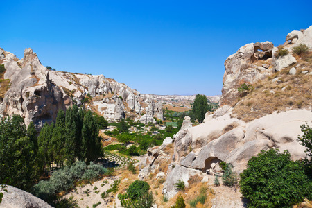 goreme: Goreme cave city in Cappadocia Turkey - nature background