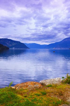 hardanger: Fjord Hardanger Norway - nature and travel background
