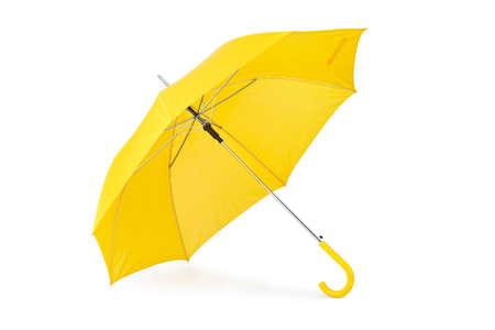 proteccion: Paraguas abierto aisladas sobre fondo blanco